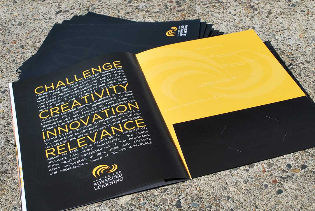 cal recruitment folder brochure lewis creative